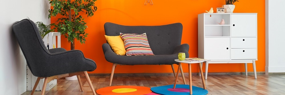 Colourful interior design elements can improve your property